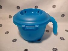 Tupperware Individual Microwave Rice Cooker Rice for One Blue New