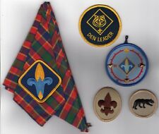 Boy Scout Cub Scout Scarf with Patch Plus Den leader Patch Plus 3 More LOOK!@@!