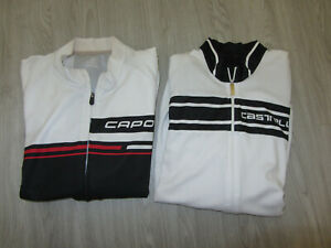 2 Lot Men's Cycling Jerseys Capo Italy White Black Bike Bicycle Pro Race M MD