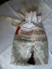 French Country Style Toile de Jouy Bag with Angels for Bottle as Hostess Gift
