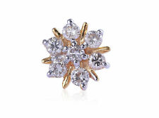 Diamonds Nose Stud In Fine 18K Gold Classy 0.30 Cts Round Brilliant Cut Natural