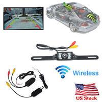 2.4G Wireless Car Reverse Rear View Backup Camera Kit Parking 7 IR night