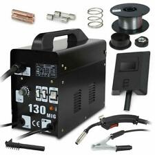 Mig 130 Welding Machine Welder Gas Less Flux Core Wire Automatic Feed w/ Mask