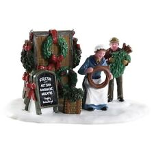 2018 New Lemax Village Collection Handmade Wreaths Christmas 83362