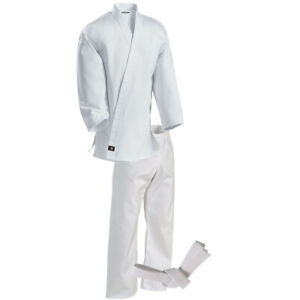 Century Kid's 6 oz. Lightweight Student Uniform w/ Elastic Pants - White -kimono