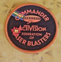 ~ Atari Video Game Vintage 80's Activision Award Patch - Laser Blast Commander ~