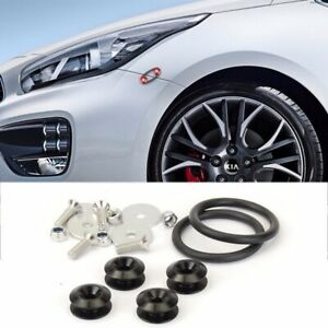 Black Racing Aluminum Quick Release Fasteners Kits For Front  Rear Bumper Fender