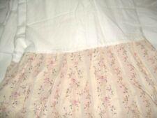 Shabby Cottage Croscill Floral Stripe Bed Skirt King