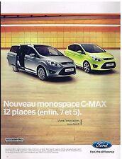 Publicité Advertising 2010 Ford Nouveau monospace C-Max