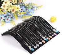 Collar de terciopelo Cadena Colgante Pantalla Organizador de joyas Soporte