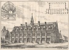 S. Francis, Xavier's College, Liverpool; H. Clutton, Architect 1876 old print