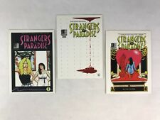 STRANGERS IN PARADISE 1996 Complete RARE 3-CARD SUBSET SET Terry Moore Art