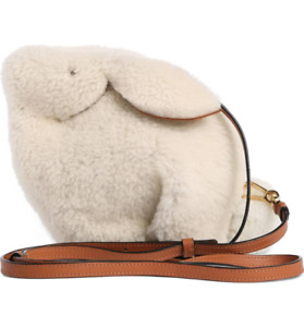 Mini Bunny Fuzzy Genuine Shearling Crossbody Bag