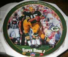 Bart Starr Packers Bradford Collector Plate Chiefs Coa Super Bowl 1