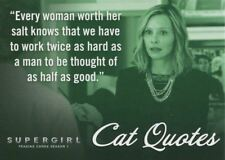 Supergirl Season 1 Cat Quotes Chase Card CQ02 Every woman worth her salt...