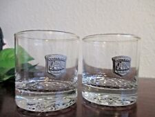 2 Cutty Sark Whisky Rock Glasses Low Ball Pewter Schooner Logo 8oz