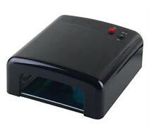 36W Black UV Gel Nail Art Lamp Dryer Manicure Light Gel Curing Timer +4 x 9W Blb