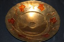 Murano Italian Art Glass Plate or Bowl - GIANT Size - Murano GOLD Leaf Design