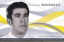 CYCLISME carte cycliste NICOLAS ROUSSEAU équipe AG2R 2009