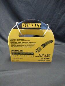 DEWALT DWFP1450D - Air Hose- 50 ft. x 1/4 in. - Yellow Rugged PVC Rubber NEW