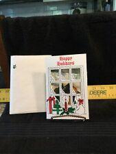 "Vintage John Deere 1992 ""Mailbox� Sun Catcher - Nip - In Merry Christmas Card"