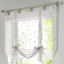 Fenster Raffrollo Gardinen Vorhang Raffgardine Lässig Voile Farben M11922