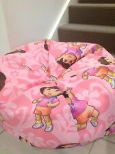 KIDS BEAN BAG PINK DORA THE EXPLORER GIRLS BEDROOM LOUNGE RUMPUS ROOM