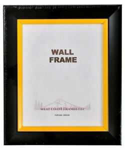 Picture Frame Black with Accent Stripe - Red - Blue - Yellow