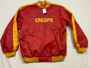 M91 FLAWED NFL Kansas City Chiefs Jacket Coat Full Zip  MEN'S Large L  Jersey