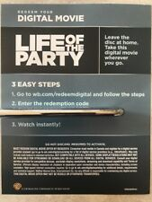 Life Of The Party 2018 Digital HD Code! NO Blu-ray Or DVD Canadian Copy READ