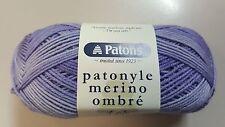 Patons Patonyle Merino Ombre 4 Ply #3333 Hyacinth Purple Sock Yarn 50g