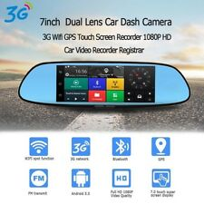 Dash Cam 3G 7-inch Car Mirror Camera Android 5.0 Wi-Fi GPS Full HD 1080P