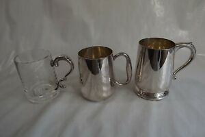 silver plated tankards