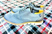 New NAUTICA sole technology MEN'S LIGHTWEIGHT LACED OXFORD SHOES gray SIZE 10