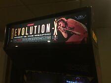 Revolution X Arcade Marquee Translight Header Midway Sign Backlit