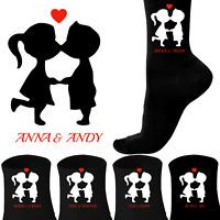 Kissing Couple Personalised Heart Socks Husband, Boyfriend, Girlfriend, Wife