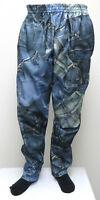 BLUE JEANS PRINT ALL OVER MC Hammer Pants Muscle Baggy funny crazy denim NEW