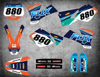 Custom Graphics Full Kit to Fit KTM SX 2001 2002 FOXY STYLE stickers Decals