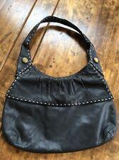 womens handbags and purses/BCBG Black Leather Shoulder Bag