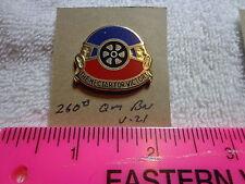 260th Quartermaster Battalion V-21 Unit Crest, DI (DRAW#T15)