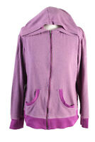 Vintage Columbia Womens Tracksuit Top Full Zip Hooded Size XL Purple - SW2427