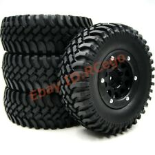 4pc RC 1.9 Crawler Tires 100mm Tyre & 1.9 Beadlock Wheel Rim For 1/10 RC Crawler