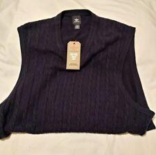 Mens Dockers Navy Blue Lightweight Sleeveless Vest Size XL