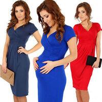Womens Casual Summer Pregnant Short Sleeve Dress Nursing Clothes Maternity Dress