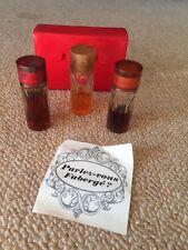 Faberge Cologne Kit Aphrodisia Woodhue Flambeau .5 Oz Bottles Vintage Set