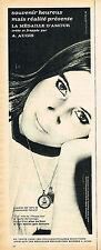 PUBLICITE ADVERTISING 114  1967  AUGIS    la MEDAILLE D'AMOUR