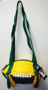 NEW r25 Green/Yellow FOOTBALL PURSE Shoulder Bag NFL NY Jets Green Bay Packers