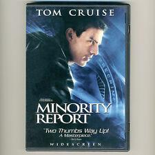 Minority Report 2002 Pg-13 mystery thriller movie, new 1-disc ws Dvd Tom Cruise