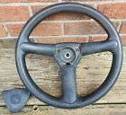 John Deere G110 Soft Grip Steering Wheel GY22528 with Cap GX26490 and Lock Nut