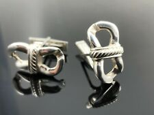 DY unique sterling silver cufflinks hand made one of a kind